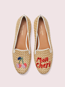 LOUNGE CHERRIES RAFFIA LOAFERS