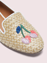 Load image into Gallery viewer, LOUNGE CHERRIES RAFFIA LOAFERS