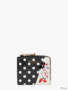 DISNEY X KATE SPADE NEW YORK MINNIE MOUSE SMALL BIFOLD WALLET