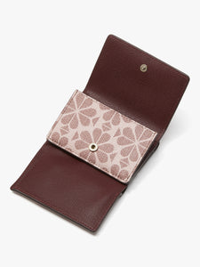 SPADE FLOWER COATED CANVAS MINI TRIFOLD WALLET