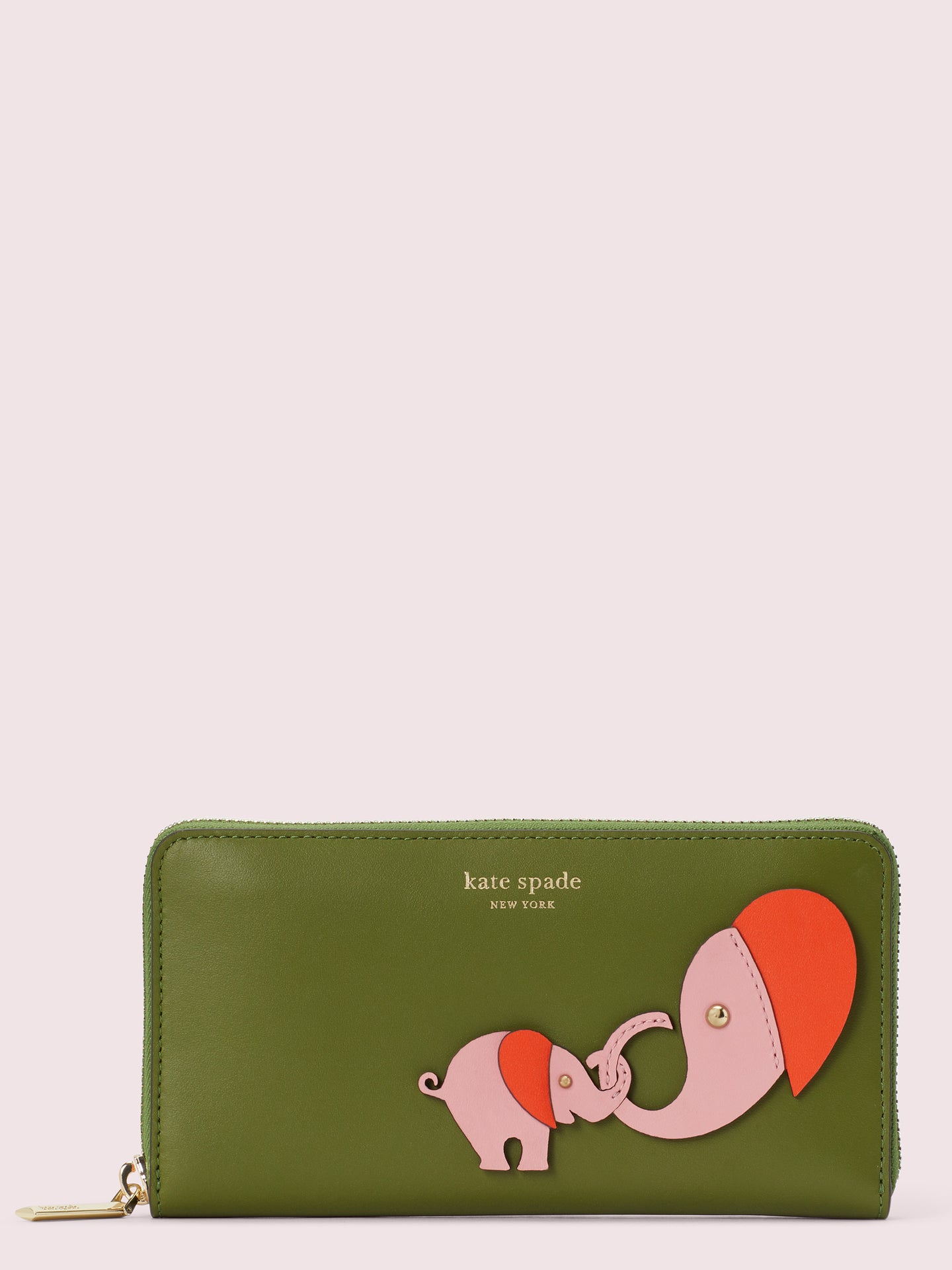 APPLIQUÉ TINY ZIP-AROUND CONTINENTAL WALLET