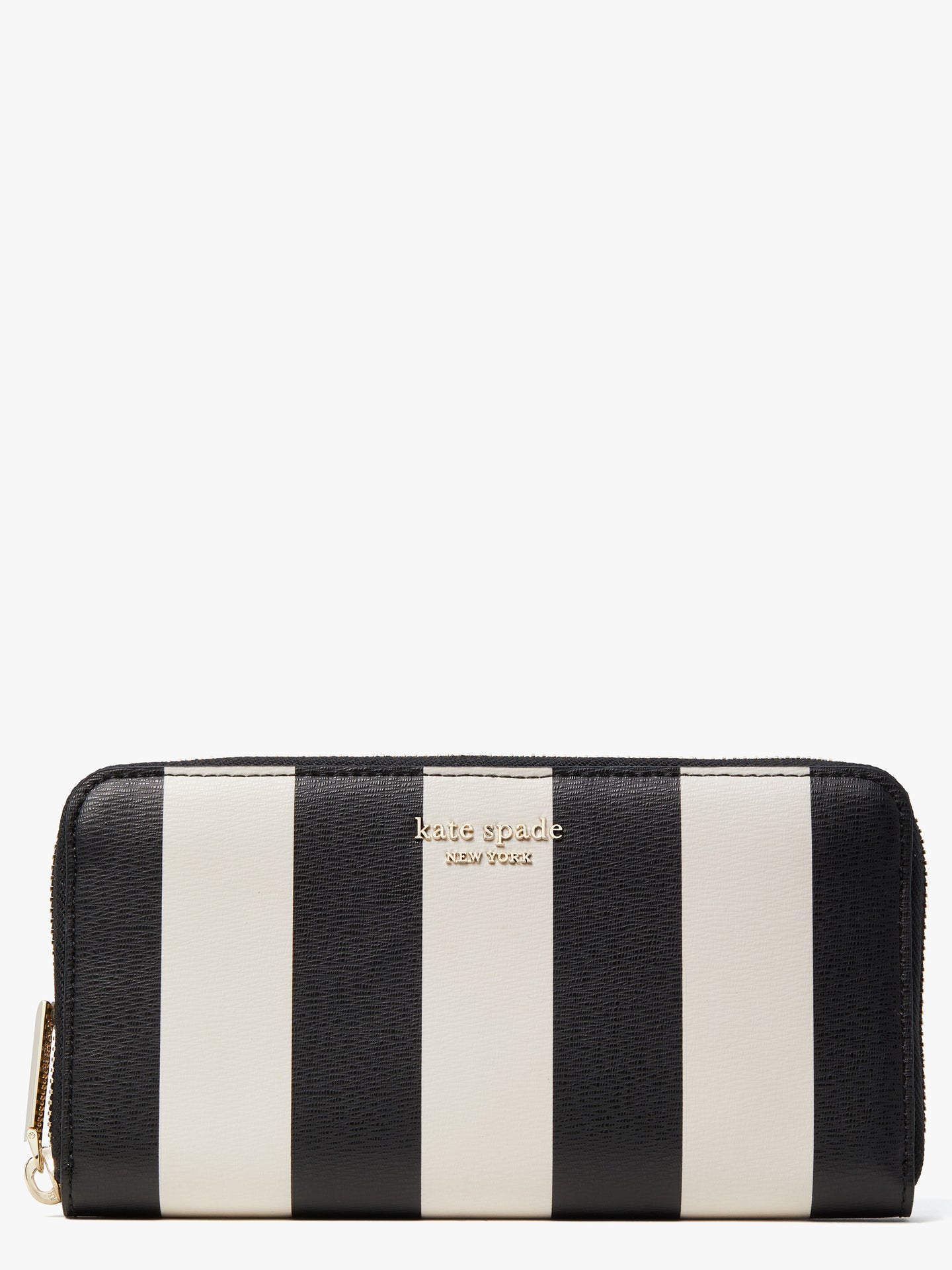 SPENCER STRIPE ZIP AROUND CONTINENTAL WALLET