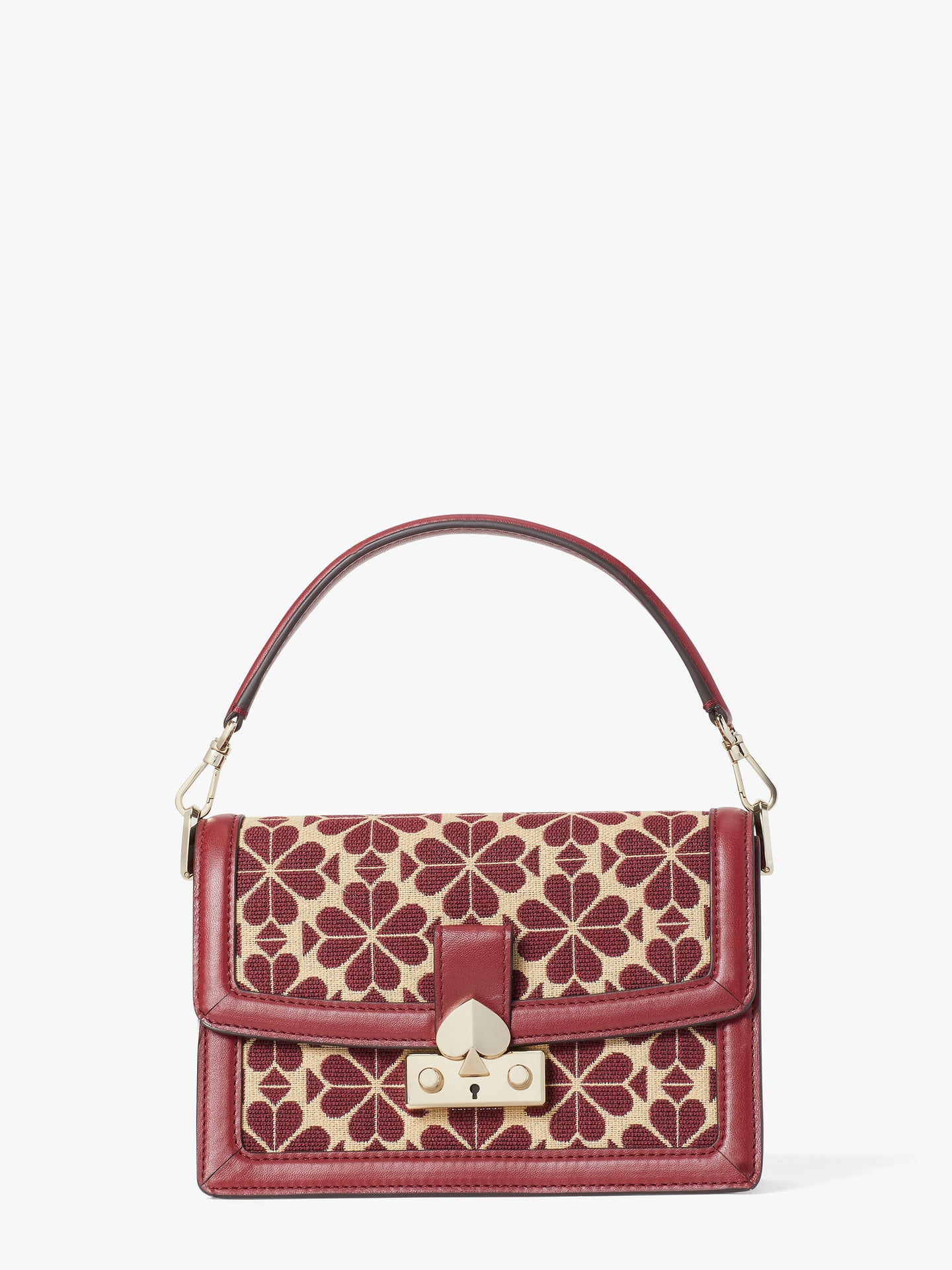 HARMONY SPADE FLOWER JACQUARD SMALL SHOULDER BAG