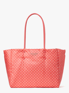 EVERYTHING PUFFY DOTS LARGE TOTE