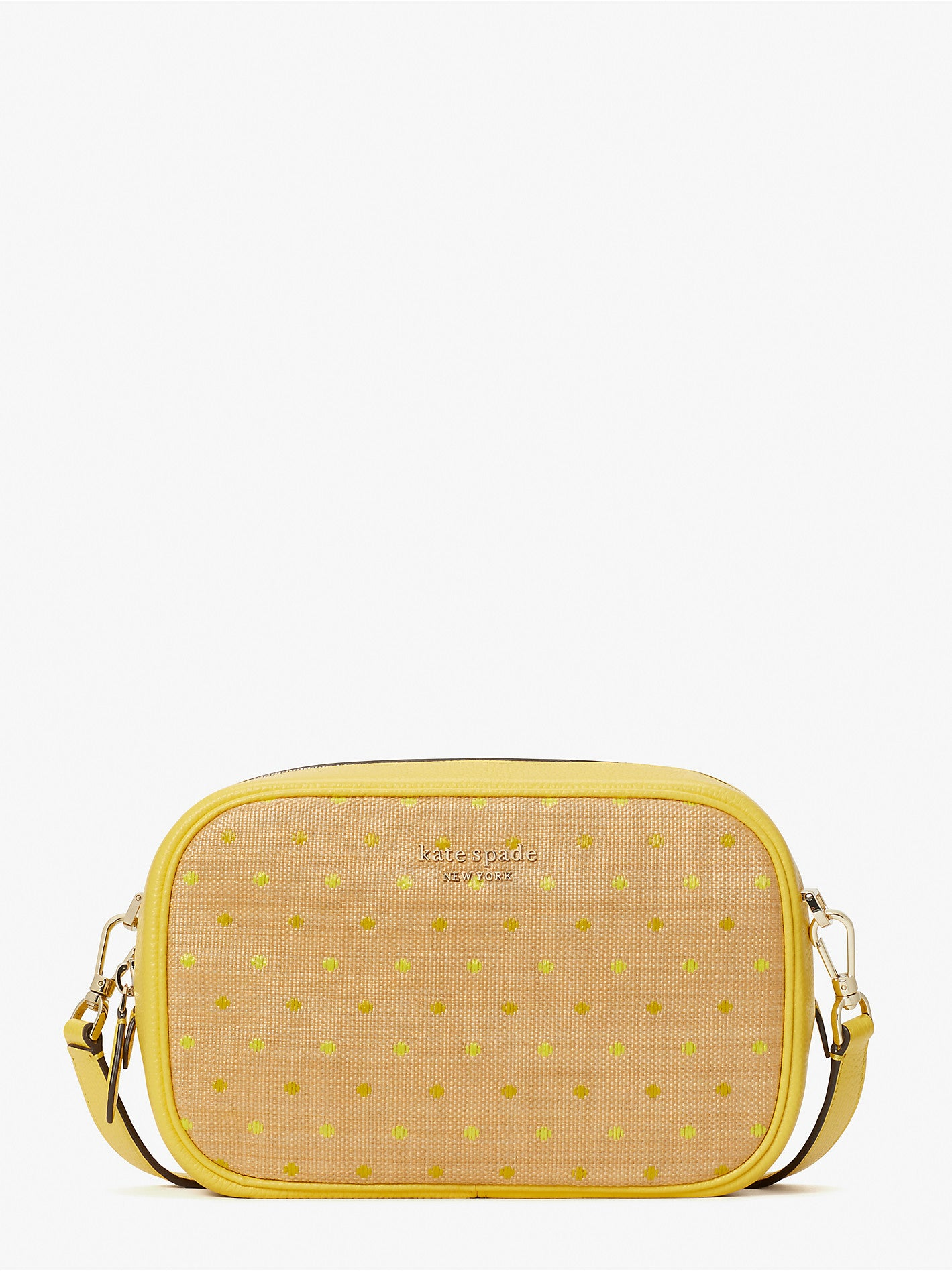 ASTRID RAFFIA DOT MEDIUM CAMERA BAG