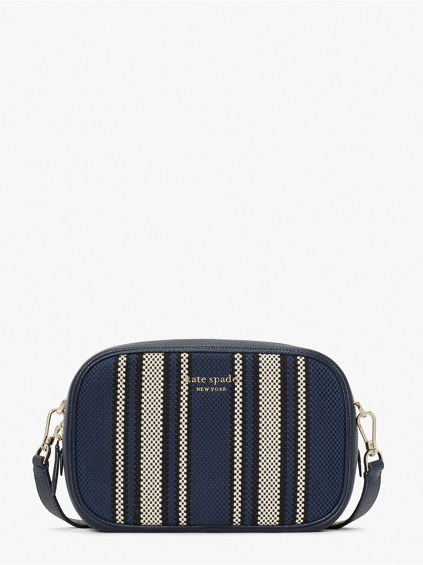 ASTRID CANVAS STRIPE MEDIUM CAMERA BAG