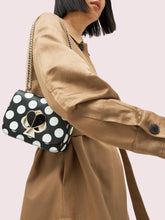 Load image into Gallery viewer, NICOLA EMBOSSED BIKINI DOT TWISTLOCK SMALL CONVERTIBLE CHAIN SHOULDER BAG