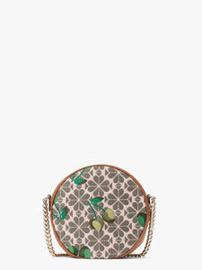 SPADE FLOWER JACQUARD DRUM CHERRY MEDIUM CROSSBODY