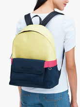 Load image into Gallery viewer, JOURNEY COLORBLOCK NYLON LARGE BACKPACK