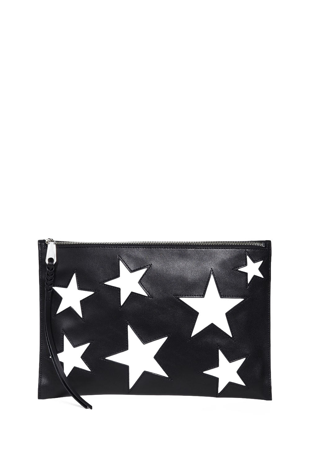 MULTI STAR LARGE ZIP CLUTCH