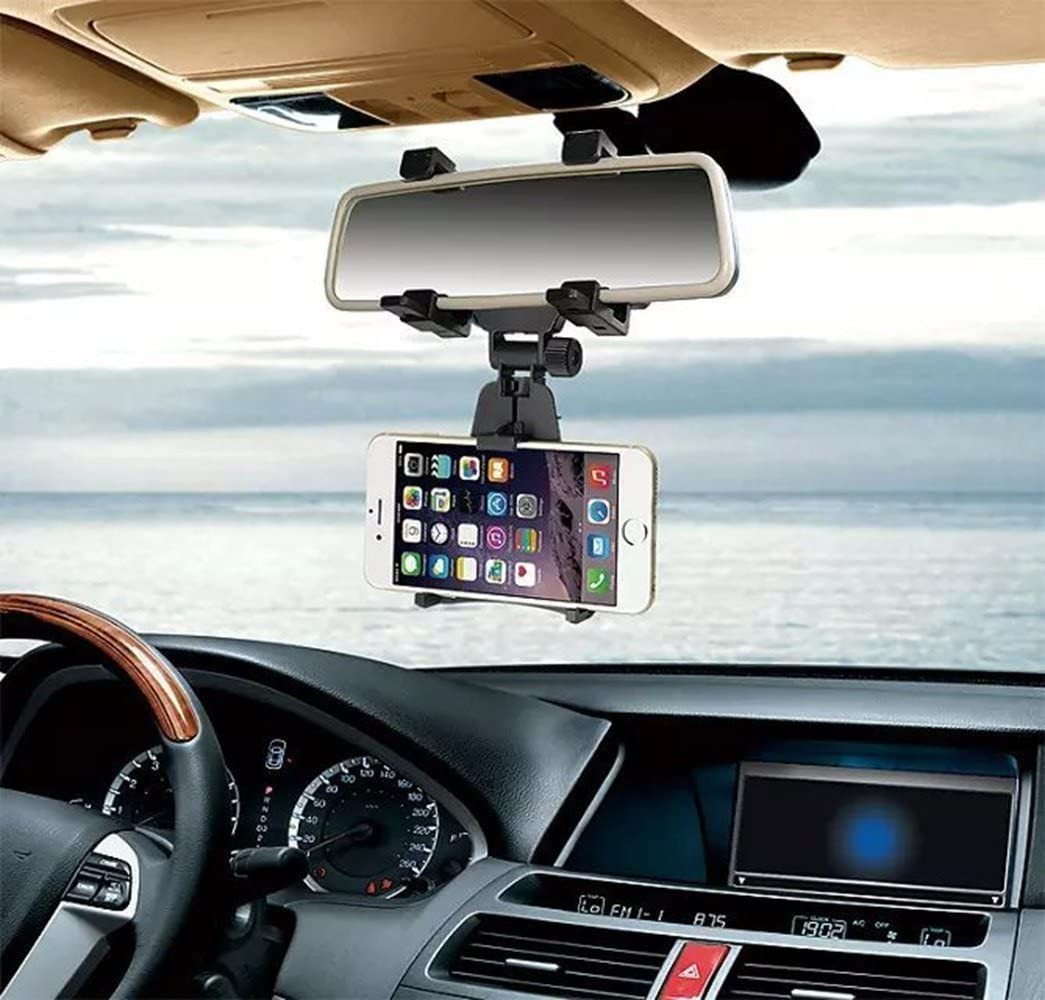 Car Rear View Mirror Phone Holder