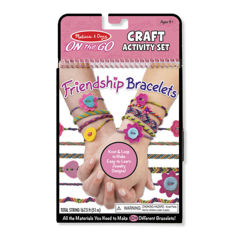 MELISSA AND DOUG On the Go Crafts - Pulseras de la amistad juguetes 19422