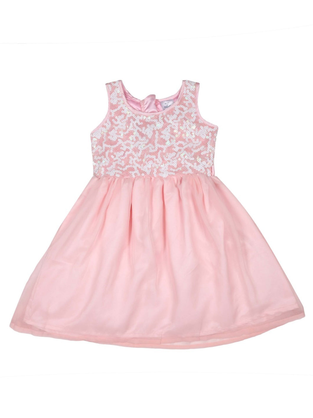 Peach Net Partywear Dress