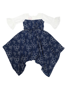 Navy with White Kerchief Dress