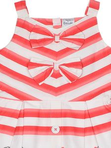Stripe Printed Cotton Dress