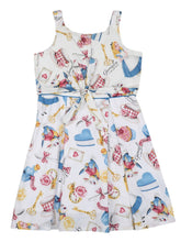 Load image into Gallery viewer, Blue and Whitr Printed Cotton Dress