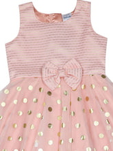 Load image into Gallery viewer, Baby Pink Polka Printed Foil Kerchief Dress