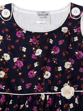 Load image into Gallery viewer, Cotton Navy Floral Print Dress