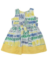 Load image into Gallery viewer, Cotton Dress Yellow Printed Cotton Dress