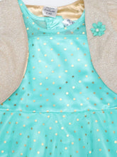 Load image into Gallery viewer, Green Polka Print Foil Kerchief with Shrug Net Dress