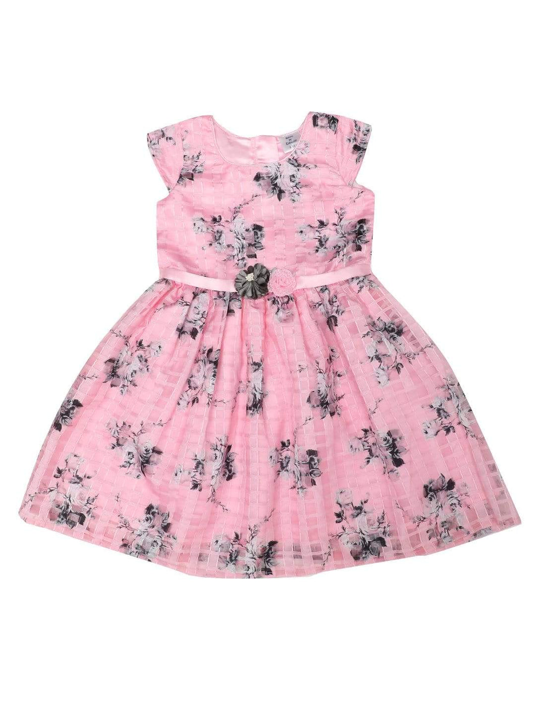 Tissue Pink Tissue Partywear Dress