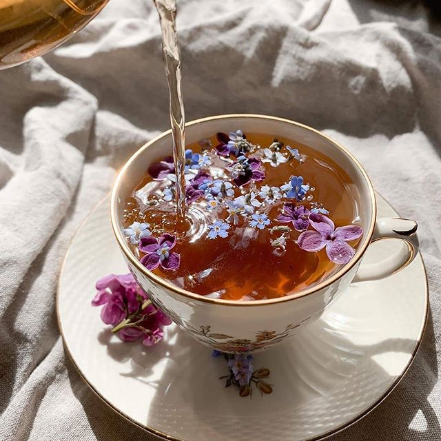 tea in bed morning routine wellness glow
