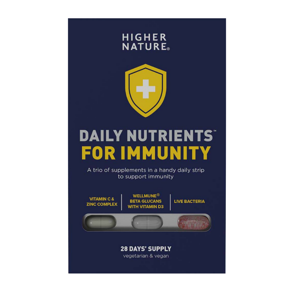 Higher Nature Daily Nutrients for Immunity high-quality immune boosting supplement vitamin c vitamin d