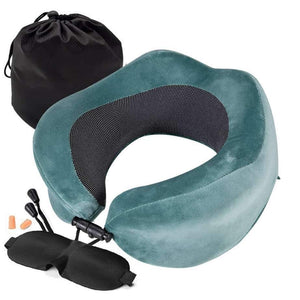 Hock U-Shaped Neck Pillow Memory Cotton Storage Aircraft Travel - EbazoneShop