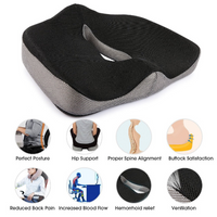 Coccyx Orthopedic Comfortable Memory Foam Chair Car Seat Cushion for Lower Back Tailbone Medical - EbazoneShop
