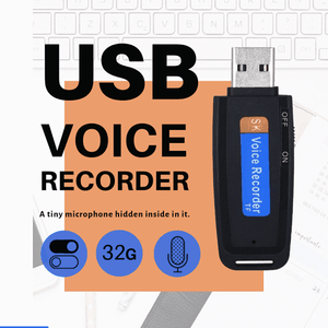 32 GB USB Voice Recorder - USB For Recording Up To 20 Meters - EbazoneShop