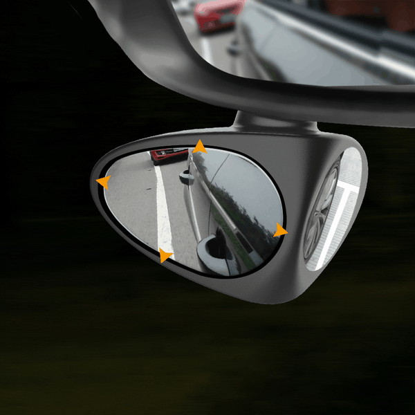 360 degrees rotatable blind spot side assist mirror for car