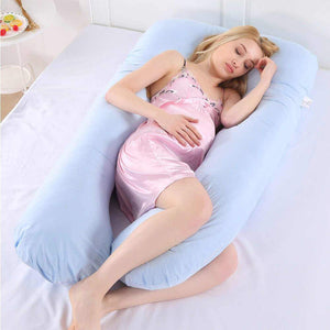 Large U-shaped body pillow for pregnancy and perfect cuddling - EbazoneShop