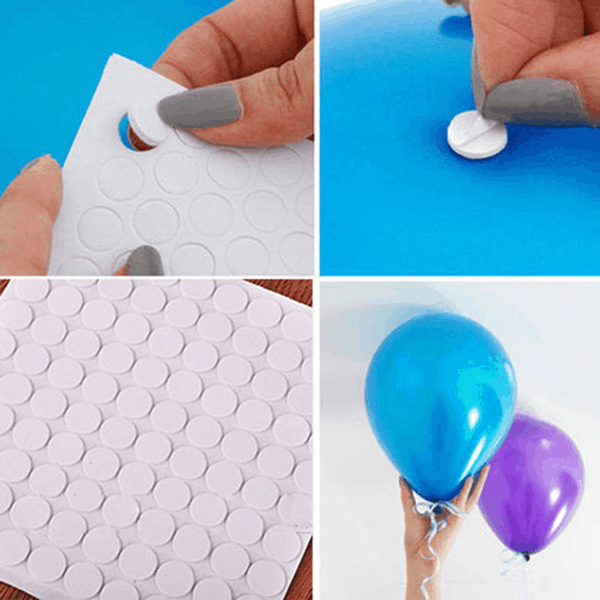 200pcs Double Sided Adhesive Sticks Balloon Ceiling Haning Decal Wall Points Glue For Party - EbazoneShop