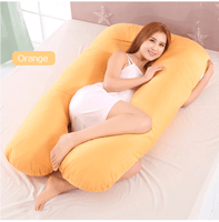 Side Sleeping Pregnant Pillow U Shape For Maternity Women Support 100% Cotton - EbazoneShop