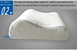 Fiber Pillow Memory Foam Healthy Breathable Orthopedic Neck Fatigue Relief - EbazoneShop