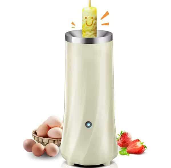 Automatic Egg Roll Maker Mini White Electric Boiler Cup DIY