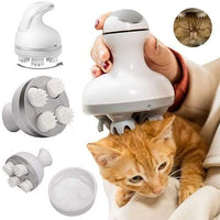 Pet Cats Dogs Paw Head Electric Massager Roller Relaxation USB Charging - EbazoneShop