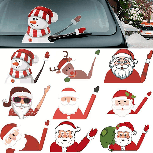 Santa Claus amusing stickers for wiper blades - EbazoneShop
