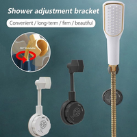 360 degrees universal shower head holder wall