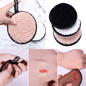 Double-sided Face Cleansing Towel Cloth Pad Microfiber Facial Makeup Remover Puff Pad - EbazoneShop