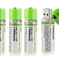 1.5V 1250mAh USB Rechargeable AA Li-Po Battery‏ - EbazoneShop