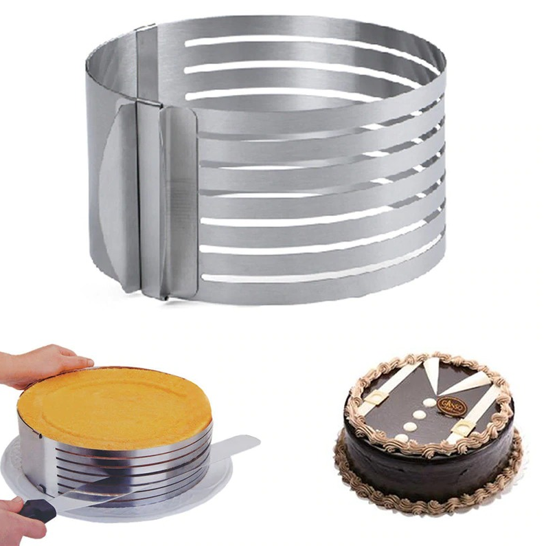 Mousse Steel Stainless Ring Cutter Mold Cake Pastry Baking Round Cookie 3 Mould Layer Biscuit 2 Tool Cookies Kitchen Set - EbazoneShop