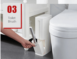 Narrow 4-in-1 garbage can for the bathroom / toilet - EbazoneShop