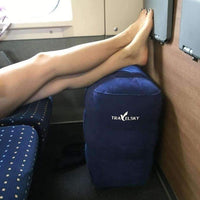 Puffy Travel Pillow For Legs Rest On Long Flights