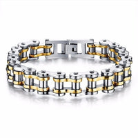Cool Stainless Steel Men's Biker Chain Bracelet - EbazoneShop