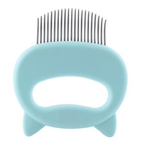 Pet Massage Brush Shell Shaped Handle Grooming Massage Tool Remove Loose Hairs - EbazoneShop