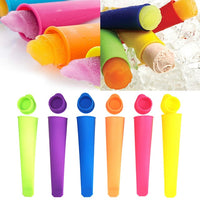 2PCS Colorful Silicone Ice Pop Mold Set Stick Frozen Maker DIY Summer - EbazoneShop