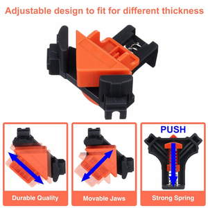 Corner Clamp Kit Angle Right Woodworking Hand Holder Frame Degree Clip 90° Picture 90 4pcs Tool Clamps Tools Clips Fixing - EbazoneShop