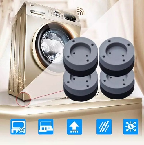 4pcs/set Slip Anti Noise Reducing Washing Machine Feet And Set Blue Grey Non Mats 4 Pcs - EbazoneShop