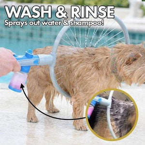 Dog Washing Cleaning Tool Pet Shower 360 Degree Bath Cleaner Cat Kit Bathing 360° Washer All Round Ring Circle Pets - EbazoneShop